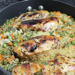 One Pan Jerk Chicken and Rice.
