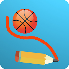 Basketball Draw - Physics Drawing Game