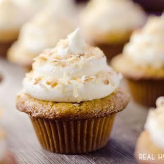 Coconut Rum Cupcakes.