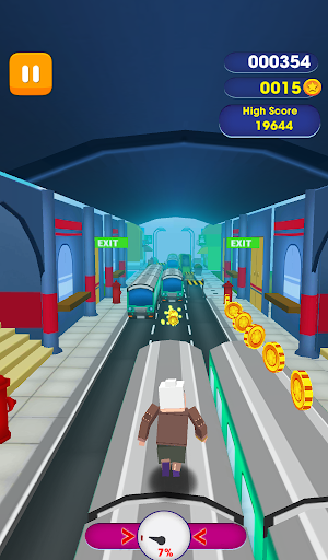 Subway Grandma Run Dash - Angry Gran Run - screenshot