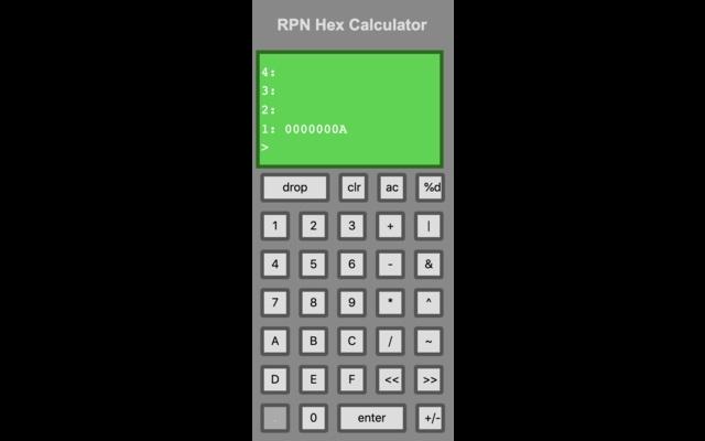 RPN Hex Calculator