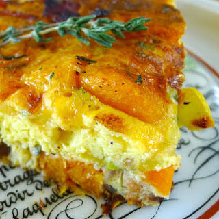 Butternut Squash and Apple Frittata with Bacon and Cheese