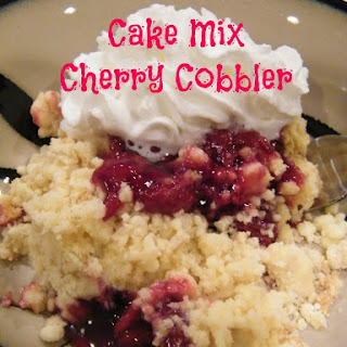 Cake Mix Cherry Cobbler.
