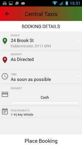 android Central Taxis Screenshot 3