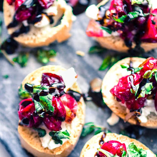 Quick Cranberry Goat Cheese Gluten Free Crostini.