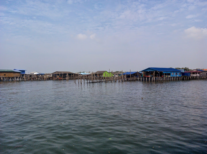 Houses on stilts at Pulau Ketam