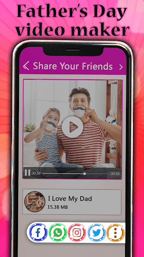 Father's day Video Maker with Song 2020 screenshot 8