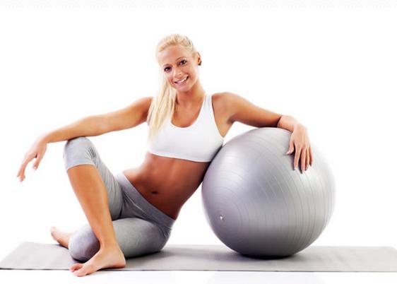 ejercicios para bajar la barriga con fitball