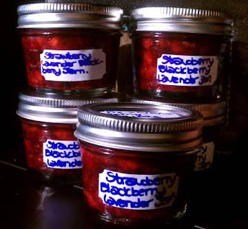 Strawberry Blackberry Jam with Lavender
