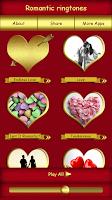 Screenshot of Romantic Ringtones