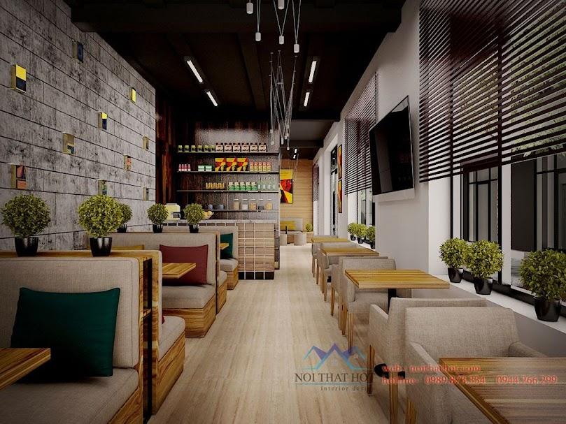 Thiết kế quán cafe mộc độc đáo bắt mắt