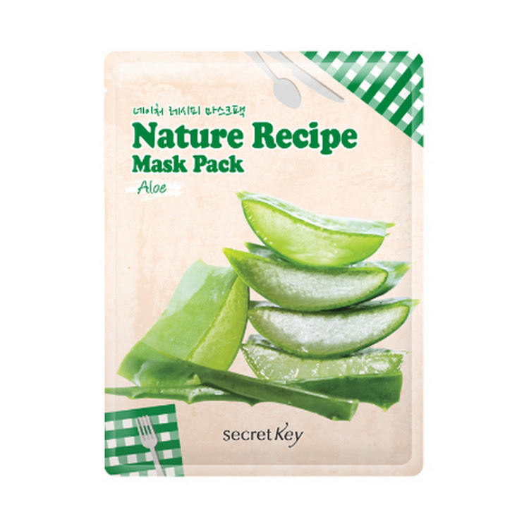 [SECRET KEY] Nature Recipe Mask Pack Aloe 20g Elastic skin by Supermodels Secrets
