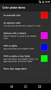 HSV-Alpha Color Picker Demo - náhled
