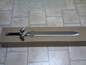Photo: The Master Sword! Stainless steel and weighs about 9 lbs.
