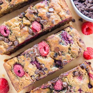 Healthy Raspberry Chocolate Chip Banana Bread