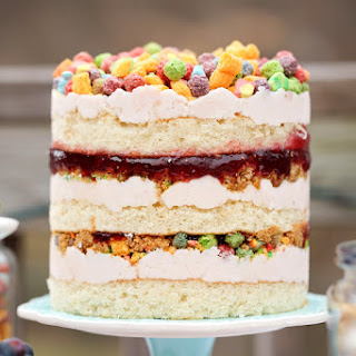 Easy Cereal Bar + Exposed Layer Cake