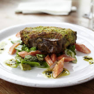 Herb Crusted Steak with Mixed Vegetables.