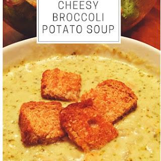 Slow Cooker Cheesy Broccoli Potato Soup.