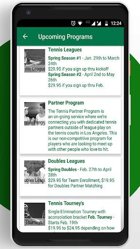 Tennis League Network App 3.18 screenshots 3