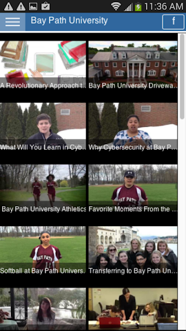 android Tour Bay Path University Screenshot 1