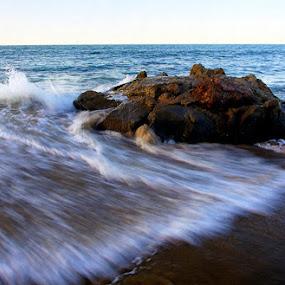 Santa Monica by Jerzy Szablowski - Landscapes Beaches ( film, f90x, fuji, nikon, 24-70mm, fortia, n90s, 50 )