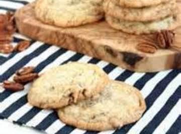 White Chocolate Pecan Banana Cookies