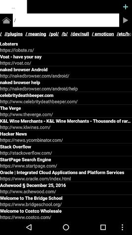 Naked Browser web browser Screenshot