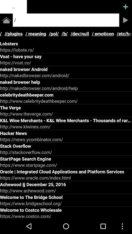 Naked Browser web browser screenshots