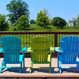 Five Adirondack Chairs by Rita Goebert - Artistic Objects Furniture (  )