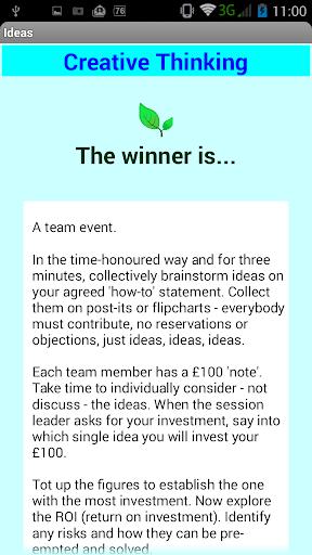 Creative Thinking Box Free 1.5 screenshots 1