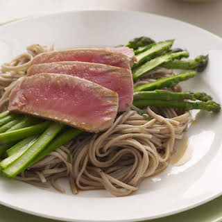 Tuna Steaks with Soba Noodles.