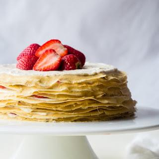 Paleo Crepes Cake With Lemon Strawberry Coconut Cream