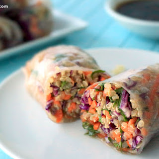 Veggie Sesame Spring Roll.