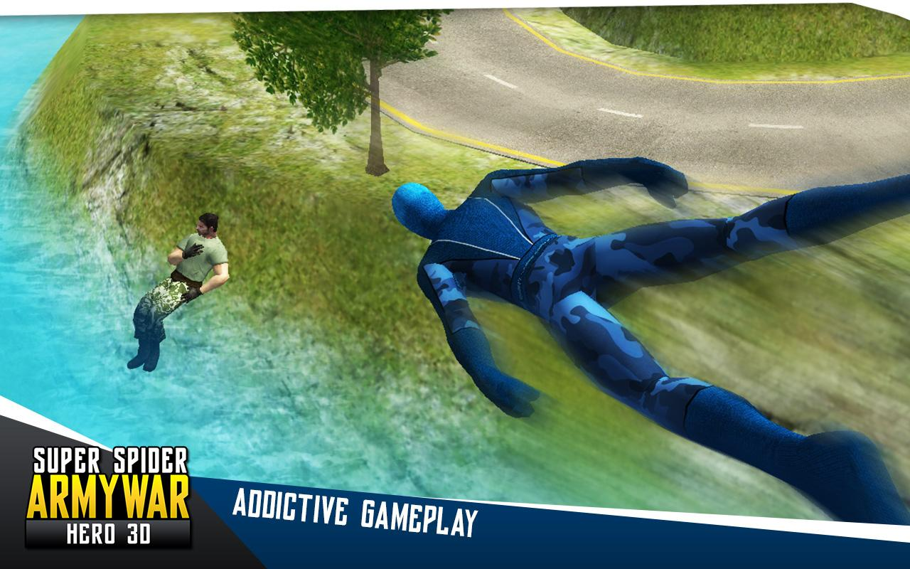 Super Spider Army War Hero 3D- screenshot
