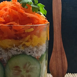 Kosambri Salad Jar | Traditional South Indian Salad In a Jar | Carrot Mung Salad | Kosambri Recipe | How to make Kosambri in a Jar | Vegan Salad Jar | Gluten Free Salad Jar | Salad Jar Recipes
