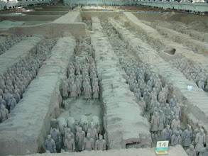 Photo: The tiny pit of clay soldiers