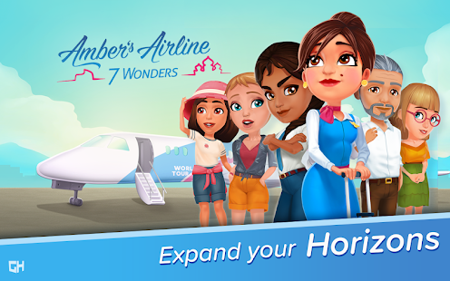 ApkMod1.Com Ambers Airline 7 Wonders + Mod (Unlocked) for Android Casual Game