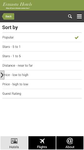 android Barcelona Hotels and Flights Screenshot 3