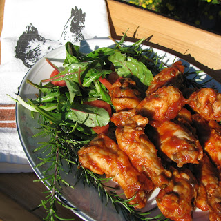 Bold and Bearish spicy chicken wings