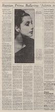 Photo: Tamara Toumanova 1936 год