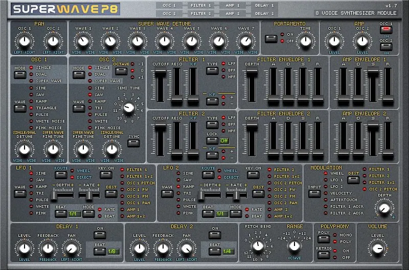 free vst instruments superwave P8