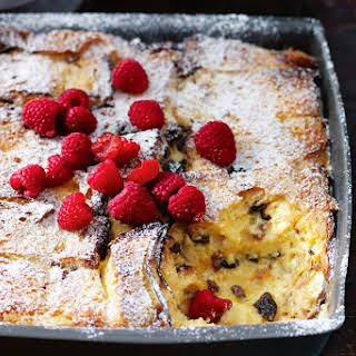 Marsala Panettone Bread And Butter Pudding.