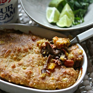 Sonoran Pot Roast Pie with Cheesy Cornbread Crust