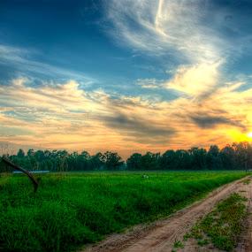 evening sky II by Hendrik Mändla - Landscapes Sunsets & Sunrises