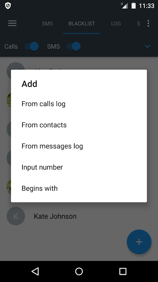 Calls Blacklist PRO - Call Blocker- screenshot