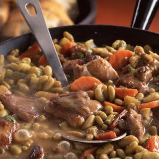 Lamb with Flageolet Beans.