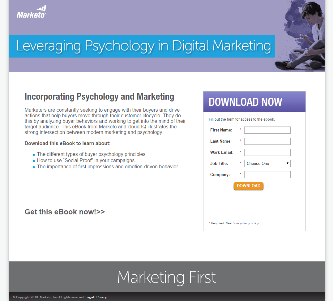 Great landing pages Marketo