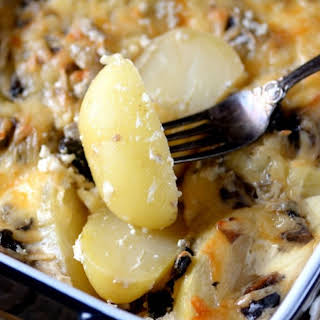 Potato & Mushroom Sour Cream Bake.