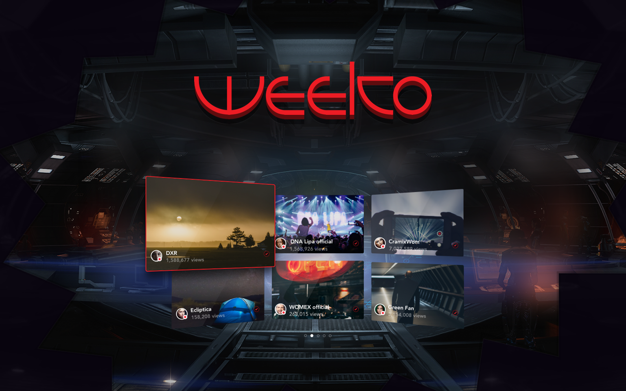 Weelco VR - Watch, Upload and Share 360 Videos- screenshot