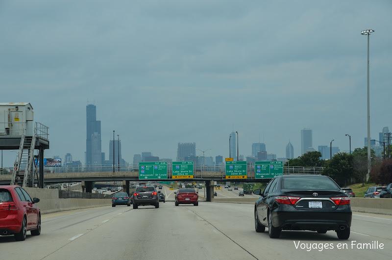arrivée sur Chicago